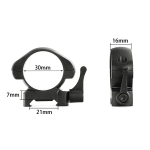 Image 3 - ohhunt 25.4mm or 30mm Diameter Steel Quick Release Picatinny Weaver Low Medium High Profile Hunting Scope Rings Tactical Mounts