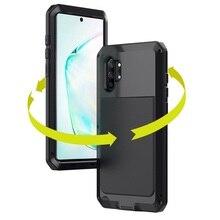 Zırh 360 tam korumak için kılıf Samsung Galaxy S20 Ultra not 10 artı durumda Metal samsung S10 artı S10e durumda darbeye dayanıklı Coque