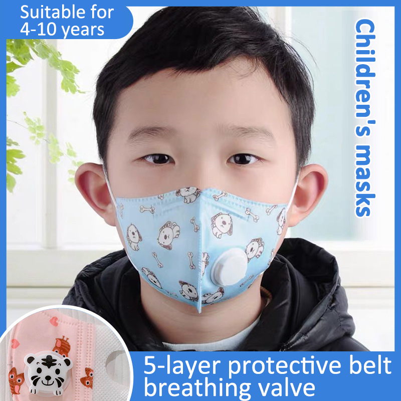 HotEST KN95 Fpp2 FPP3 Mask Head Mask Child Protection Mask Protection Against 99% Bacteria Children Cartoon New Masks