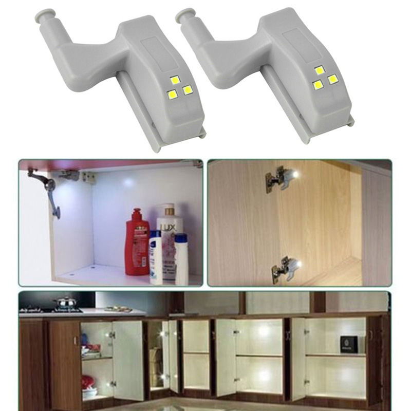 LED Under Cabinet Light Universal Wardrobe Light Sensor Led Armario Inner Hinge Lamp For Cupboard Closet Kitchen