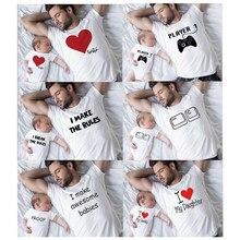 Presente para Ele Presentes para o Pai Biggie e Smalls Camisa Camisas de Correspondência de Pai e Filha Pai e Filho Engraçado Camisas de Impressão topos família