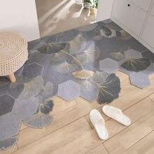 Tapete da porta do laço de seda do agregado familiar tapete sala de estar corredor quarto entrada tapetes tapete padrão simples não-deslizamento cuttable tapete da porta
