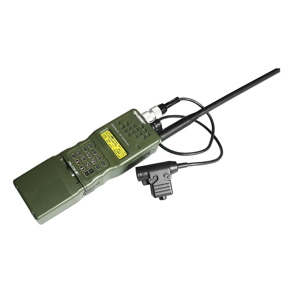 Купить с кэшбэком AN/PRC-152 PRC 152 Harris Dummy Radio Case,Military Talkie-Walkie Model for Baofeng Radio,No Function + U94 PTT 6-pin plug