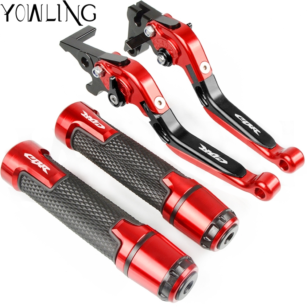 For <font><b>HONDA</b></font> <font><b>CBR1000F</b></font> SC24 1993 1994 1995 1996 1997 1998 Motorcycle Adjustable Brake Clutch Levers and Handlebar Hand Grips ends image