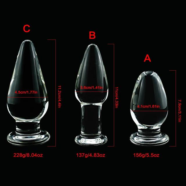 Large crystal butt plug vagina ball pyrex glass anal beads dildo male penis masturbator adult product sex toys for women