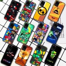 Leon Crow S-Stars Game Phone Case For Samsung Galaxy S Note 6 7 8 9 10 E 20 UITRA FE 21 Plus Edge black Funda Pretty Bumper 3D