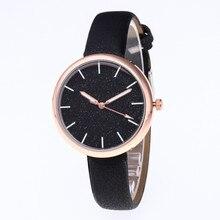 Buy Woman Watch 2019 Scrub Star Lady Watch Temperament Fashion Student Watches PU Leather Quartz Clock Bracelet Montres Femme directly from merchant!