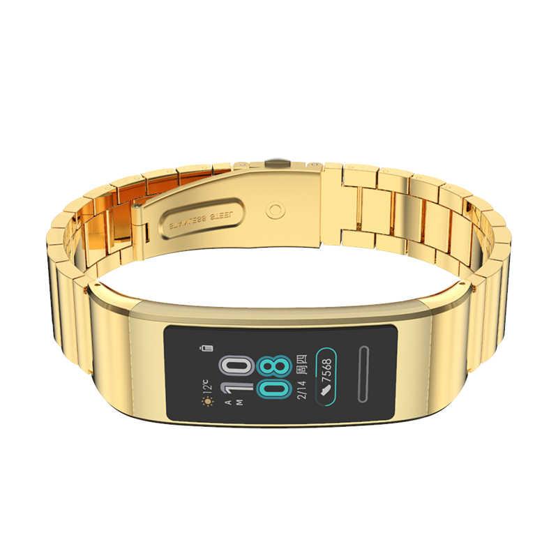 Bracelet pour Huawei Band 3 Pro Bracelet en métal Bracelet en acier inoxydable Bracelet pour Huawei Band 3pro montre intelligente remplacer les accessoires