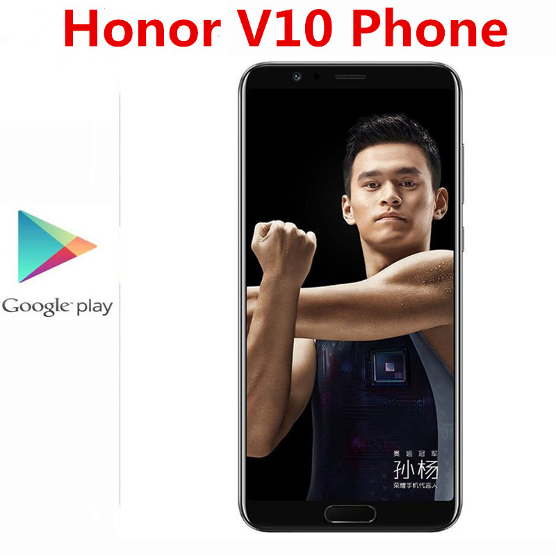 Oryginalny Honor V10 4G LTE telefon komórkowy 20.0MP + 16,0 mp + 13,0 mp Kirin 970 odcisk palca 5.99