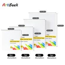 ArtBeek Blank Canvas Panel Cotton Wood Frame Acrylic Oil Painting Art Supplies