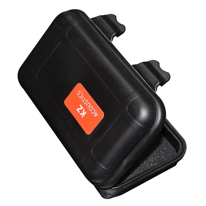 KZ ZSX Portable Headset Storage Box Suitable For Original Headphones AS10 ZS10pro BA10 ZST ES4 ZSA ZS3 Black Hold Storage Box