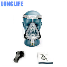 Longlife CPAP FM1 Full Face Mask CPAP Auto CPAP APAP BiPAP Mask Silicone Gel Universal With Free Headgear Clip SML SIZES Mask
