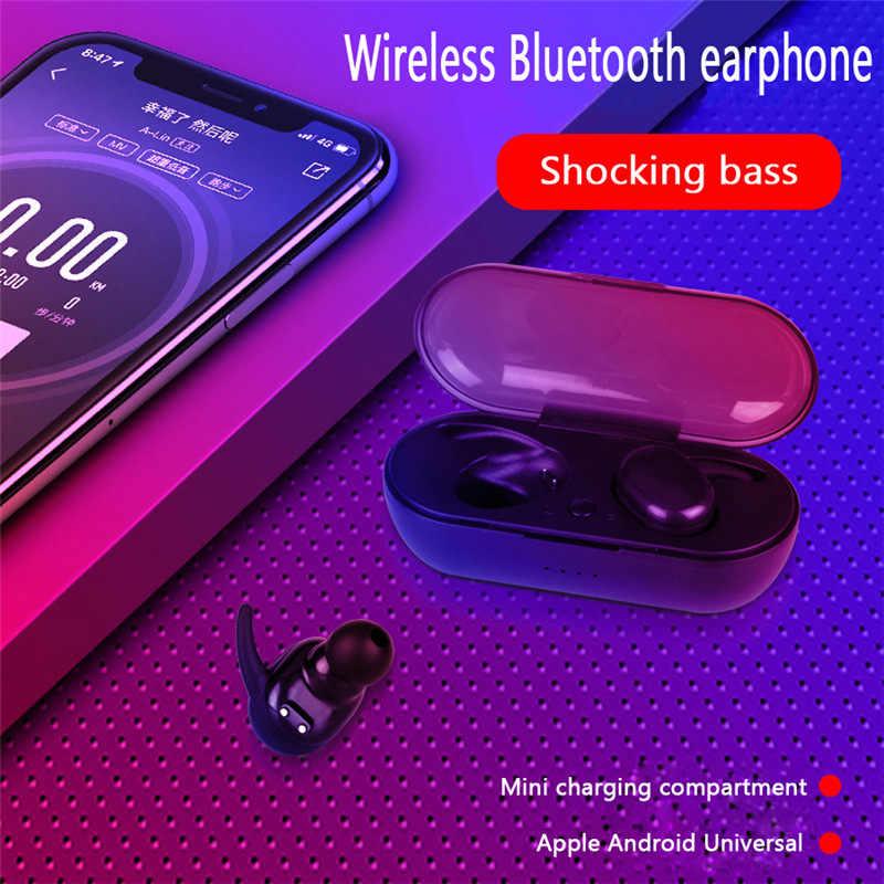 TWS4 Bluetooth ジェリー 5.0 タッチスポーツイヤホン防水ステレオバイノーラルワイヤレス Bluetooth ヘッドセット充電ビン耳 TSLM1