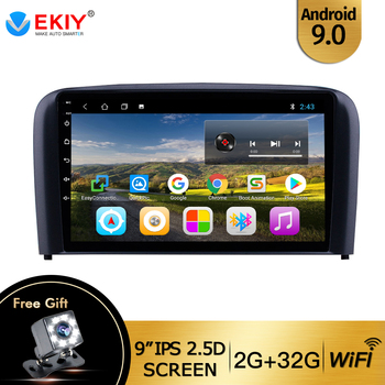 EKIY 9 IPS Android 9.0 Stereo Multimedia Video Player For Volvo S80 2004 2005 2006 2din DVD Car Radio Support Mirror Link Wifi image