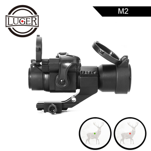 Image 1 - LUGER 홀로그램 레드 닷 시력 M2 20mm 레일 마운트 콜리메이터 시력 에어건 사냥과 사냥 광학 소총 범위