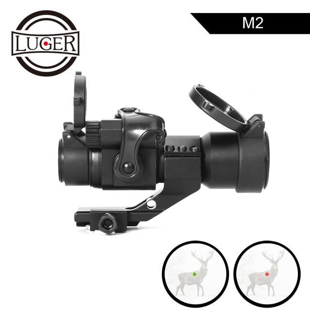 LUGER 홀로그램 레드 닷 시력 M2 20mm 레일 마운트 콜리메이터 시력 에어건 사냥과 사냥 광학 소총 범위