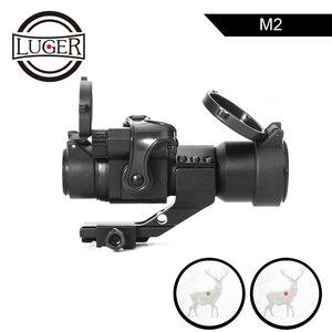 Image 1 - LUGER holografik kırmızı nokta görüşü M2 avcılık optik tüfek kapsam 20mm ray dağı ile kolimatör Sight hava tabancası avcılık