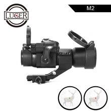 LUGER mira holográfica de punto rojo M2, visor de Rifle óptico de caza con montaje de riel de 20mm, Mira de colimador, pistola de aire para caza