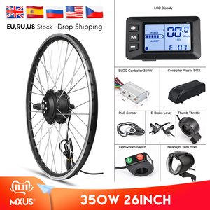 "MXUS Electric Bike Conversion Kit Front Wheel Motor 350W E Bike Kit 48V 36V Rear Hub Motor 26"" Bicycle BLDC Controller with LCD(China)"