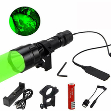 Shooting-Torch Remote-Switch Battery Hunting-Flashlight Rifle-Mount 18650 Waterproof