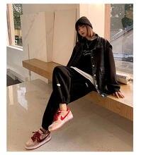 Женские модные повседневные однотонные брюки свитер с широкими