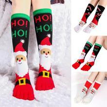 Рождественские женские носки, носки с пятью пальцами, дезодорант, пот, Bbsorbent, теплые носки с пальцами, рождественские, Meias, влагостойкие, Sokken, женские носки