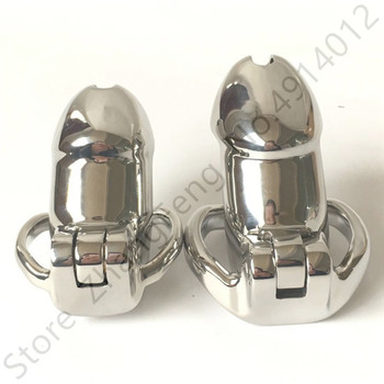 Stainless Steel Cock Cage Penis Ring Male Chastity Device Belt with Stealth Lock fetish Sex shop BDSM adult Sex Toys for man
