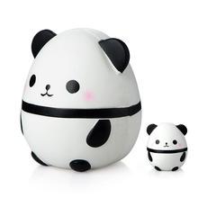 Кавайная большая панда в яйце, медленно восстанавливающая форму имитация животного, мягкая игрушка в виде животного, мягкие игрушки подарки на Рождество