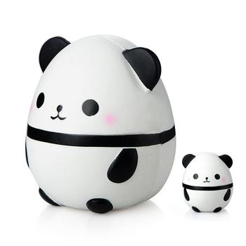 Kawaii Large Panda Egg Slow Rising Simulation Animal Squishy Toy Anti Stress Reliever Soft Squeeze Xmas Gift Toys squish slow rising kawaii ice cream peach toys for kid squishy slow rising soft animal squeeze toy squishy children anti stress