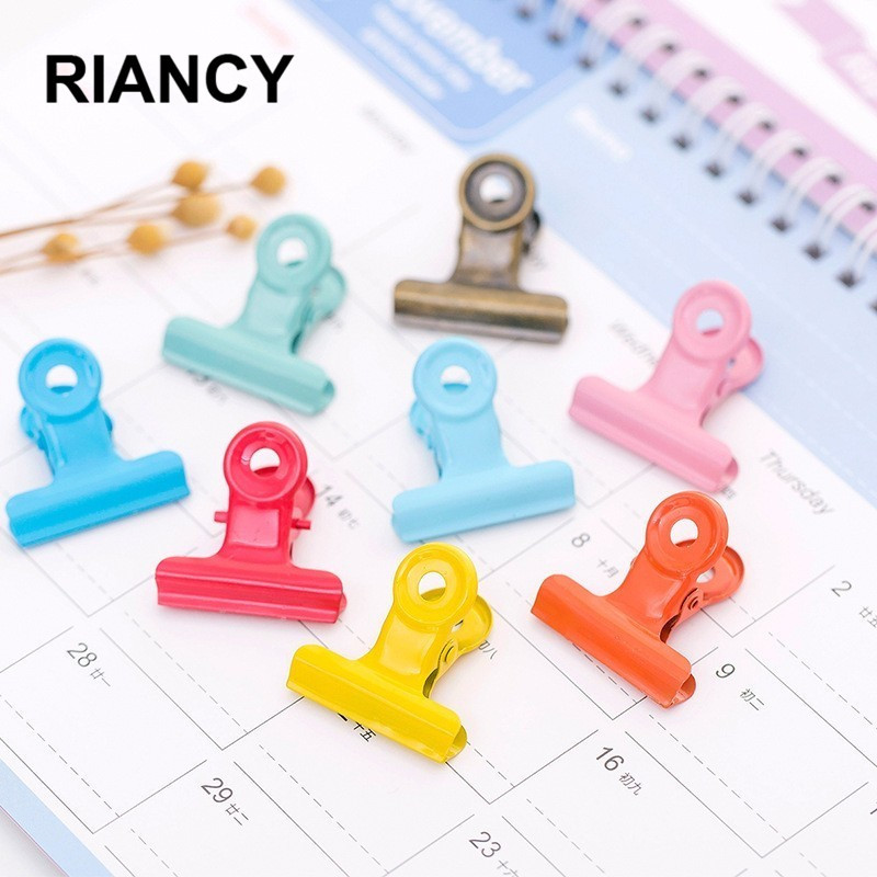 6 PCS/lot Colorful Metal Paper Photo Clips Iron Office Document Decorative Stationery Supplies Clothespins Binders Clamp 02624