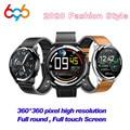 Смарт-часы H15  мужские  Full Touch  360*360  HD экран  измерение пульса в крови  фитнес-трекер  Беспроводная зарядка  керамика  умные часы m3