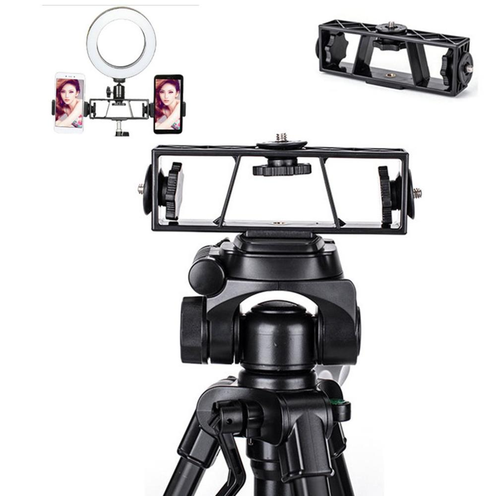 Three Positions Live Broadcast Bracket Multi-function Camera DSLR 3-Brackets Camera Stand Stabilizer Clip Fixed Clip