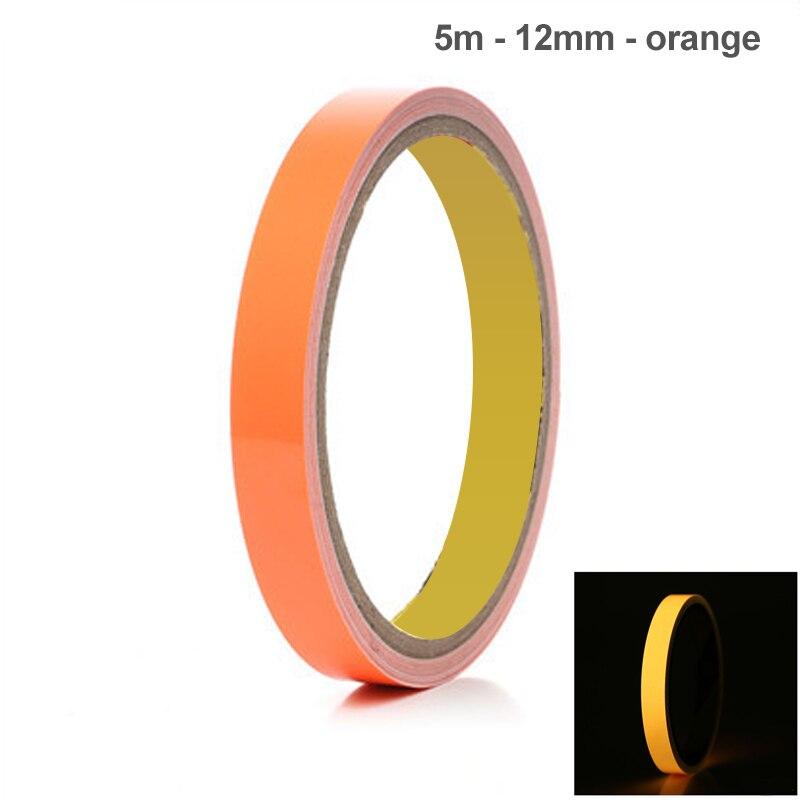 Reflective Glow Tape 12mmx5m Self-adhesive Removable Luminous Warning Tape FO Sale