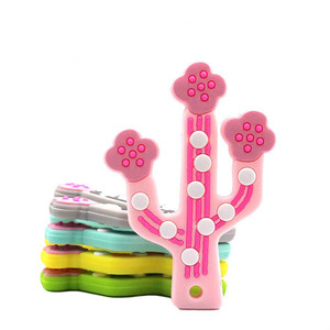 1pc Silicone Baby Teether Cart