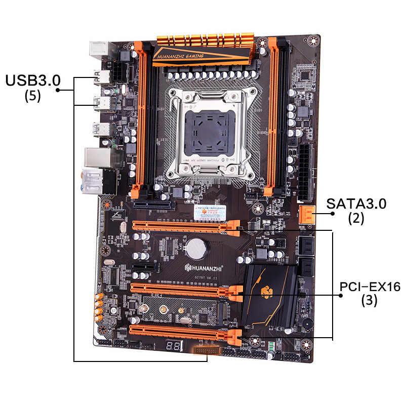 Merek Mobo Huananzhi Deluxe X79 Papan Utama dengan M.2 NVME Slot Diskon Papan Utama Bundle CPU Xeon E5 2660 C2 Ram G (2*16G)