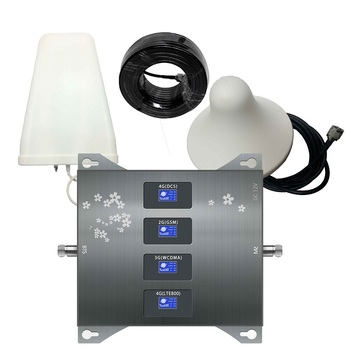B20 800 900 1800 2100 mhz komórkowy wzmacniacz sygnału GSM tri-band komórkowy wzmacniacz sygnału 2G 3G 4G LTE komórkowy wzmacniacz GSM DCS WCDMA zestaw
