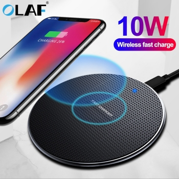 Olaf 10W Fast Wireless Charger For Samsung Galaxy S10 S9/S9+ S8 Note 10 USB Qi Charging Pad for iPhone 11 Pro XS Max XR X 8 Plus