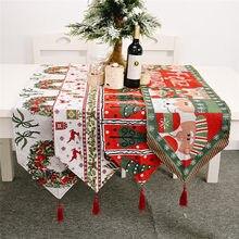 Weihnachten Geschenk Elch Schneemann Tisch Runner Frohe Weihnachten Dekoration für Home 2020 Weihnachten Ornamente Neue Jahr der Decor 2021 Navidad