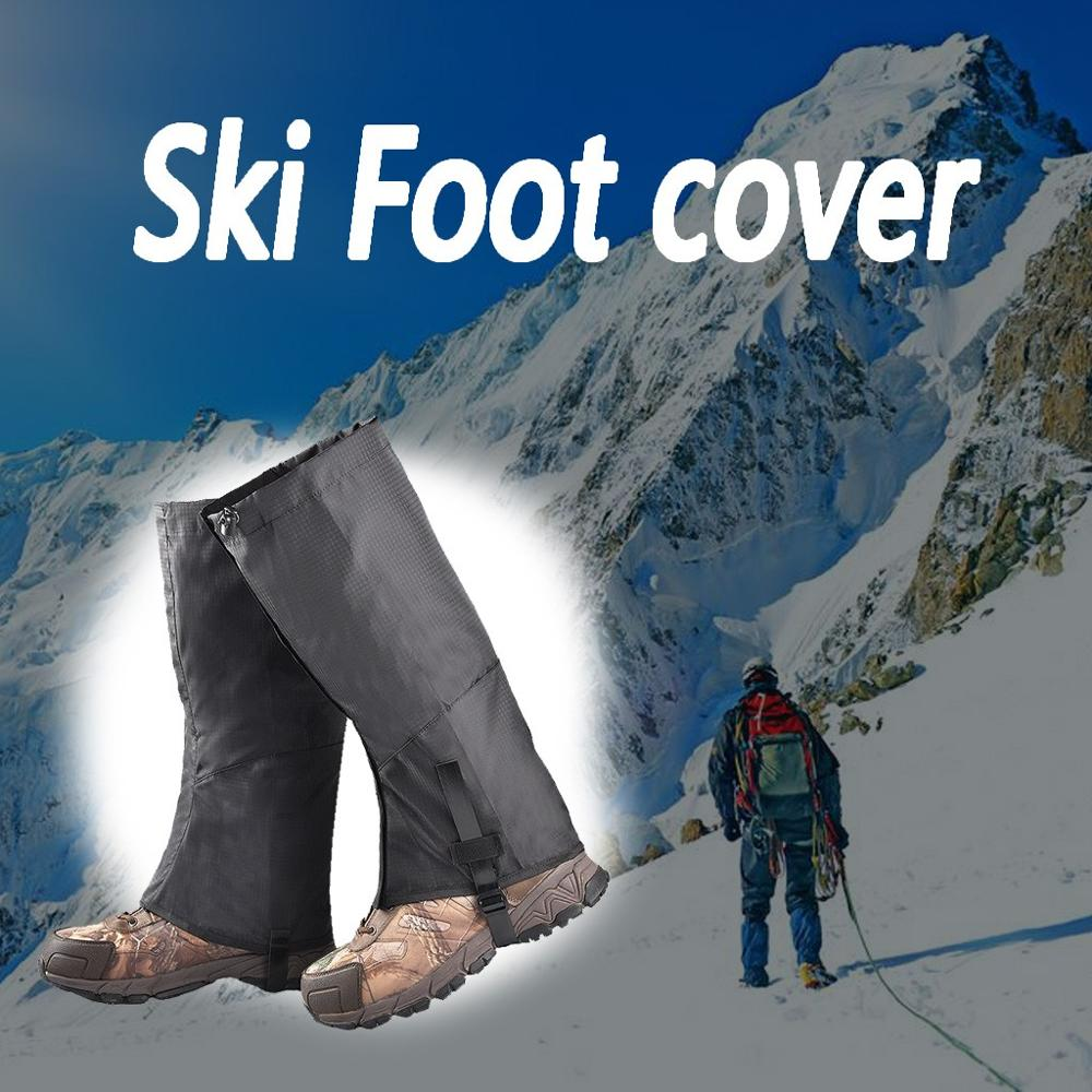 1Pair Leg Gaiter Waterproof Snow Boot Gaitors Anti Tear Nylon Fabric Leggings Cover Outdoor Fishing Skiing Hiking Black| |   - AliExpress
