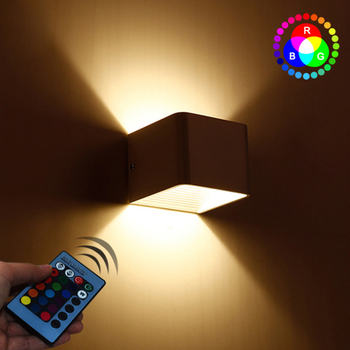 Modern 5W Colorful Led Wall Light RGB LED Effect Wall Lamp KTV Karaoke Bar home Decoration Wandlamp with remote controller
