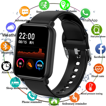 2020 Full Touch Smart Watch Men Women Sport IP68 Waterproof Clock Heart Rate Blood Pressure Monitor Smartwatch For IOS Android