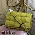 Женская плетеная сумка-мессенджер из натуральной кожи с клапаном, роскошная дизайнерская плетеная Сумка, модная сумка через плечо с сетчат...