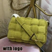 Sac à bandoulière en cuir véritable tissé pour femmes, sacoche à rabat de luxe de styliste à la mode, sac à épaule à motif de grille