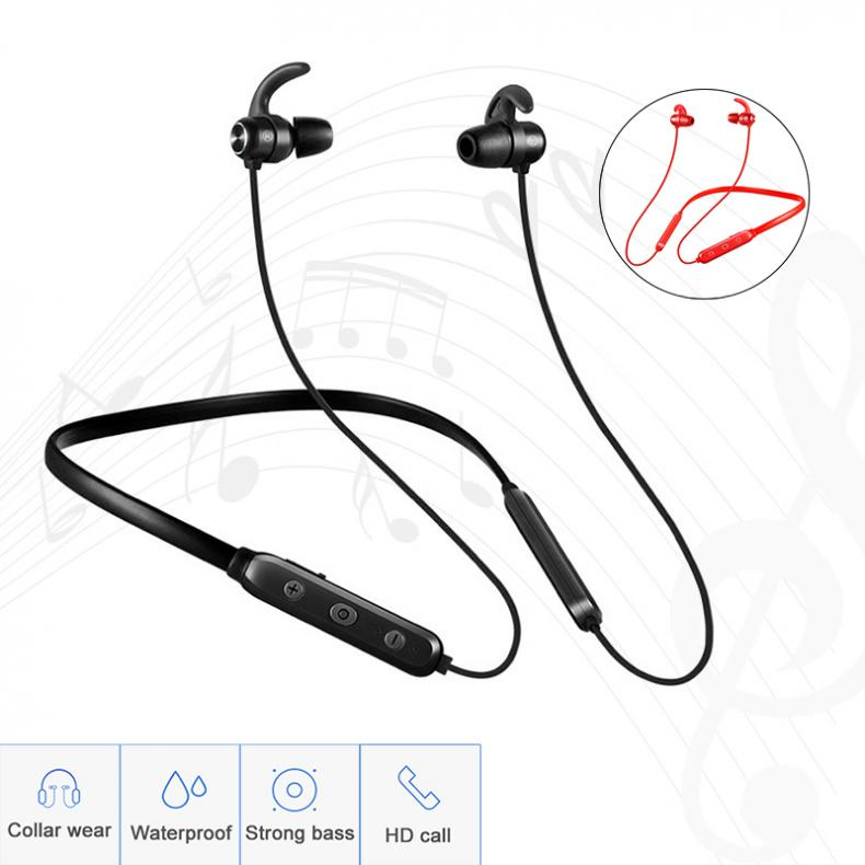Bluetooth Earphone Built-in Mic Wireless Lightweight Neckband Sport Headphones Earbuds Stereo Auriculares for phone