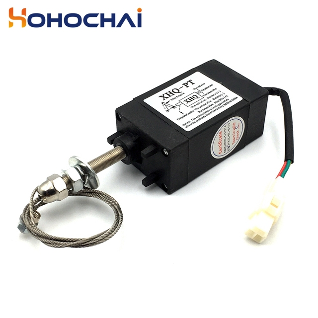 XHQ-PT 12V 24V Power Off pull Type Diesel Engine Accessory Stop Solenoid 2