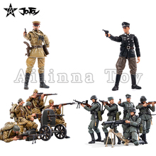 JOYTOY 1/18 3.75 Action Figure(6PCS/SET) WWII Soviet Infantry And Officer Anime Military Model For Gift Free Shipping