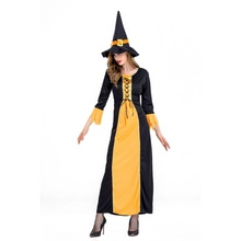 Halloween Costume Adult Witch Cosplay Bar Party Performance Black L New