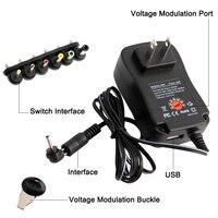 AC/DC адаптер 3V 4,5 V 5V 6V 7,5 V 9V 12V 2A 2.5A Регулируемый Мощность адаптер Универсальный Зарядное устройство питания для Светодиодный светильник полос...