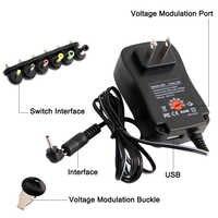 Adaptateur ca/cc 3V 4.5V 5V 6V 7.5V 9V 12V 2A 2.5A adaptateur secteur réglable alimentation chargeur universel pour lumière LED bande lampe 30W