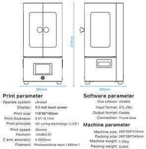 Image 5 - TRONXY Ultrabot SLA طابعة ثلاثية الأبعاد الأشعة فوق البنفسجية الراتنج 2K LCD ثلاثية الأبعاد الطابعات خارج الخط الطباعة Impresora ثلاثية الأبعاد Drucker مجموعة الطابعة Impressora ريسينا
